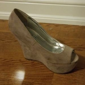Madden Girl Shoes - Madden Girl Platform Open Toe Suede Wedges